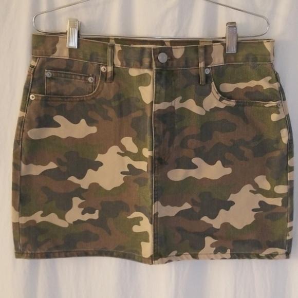 GAP Dresses & Skirts - GAP camo denim mini-skirt